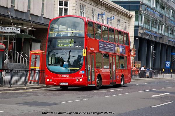 Arriva London VLW149 100725 Aldgate [jg]