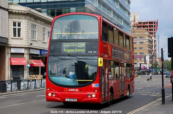 Arriva London VLW164 100725 Aldgate [jg]