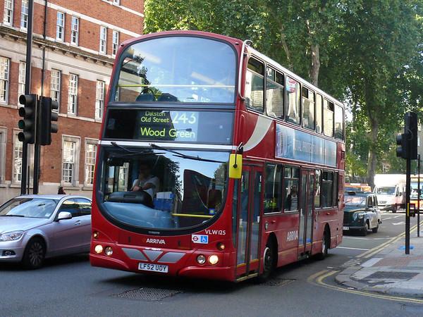 Arriva London VLW125 090925 Theobald's Road