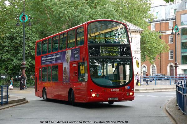 Arriva London VLW160 100725 Euston Station [jg]
