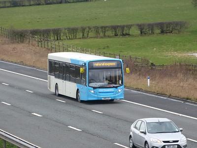 National Express West Midlands 871 150313 M6 [Barnacre]