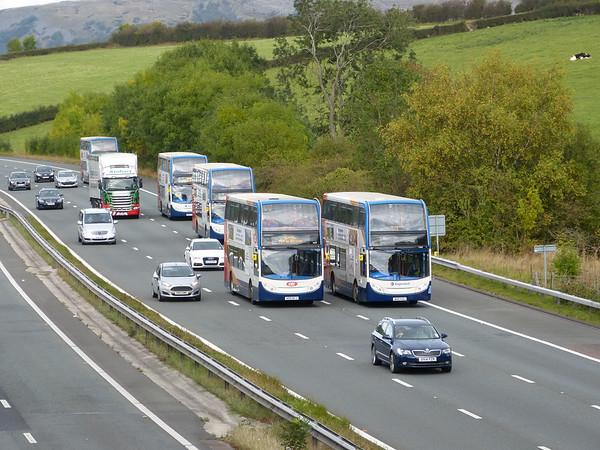 M6 Motorway in Lancashire