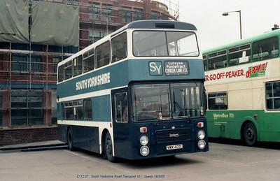 South Yorkshire Transport 101 830319 Leeds [jg]